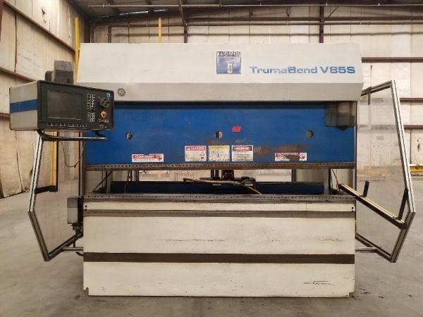 1 – USED 95 TON TRUMPF TRUMABEND V85 6-AXIS HYDRAULIC PRESS BRAKE` C-5736