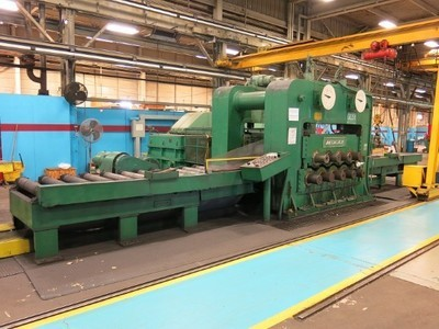 """1 – USED MCKAY 9-ROLL HEAVY PLATE 3"""" LEVELER"""