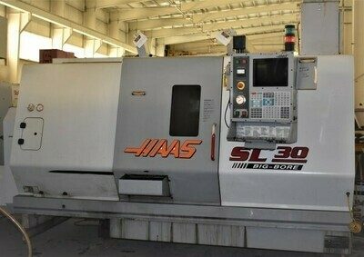 """1 – USED 30"""" X 39"""" HAAS """"BIG BORE"""" CNC TURNING CENTER"""