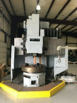 """1 – USED 59""""/49"""" TOS CNC VERTICAL TURRET LATHE"""