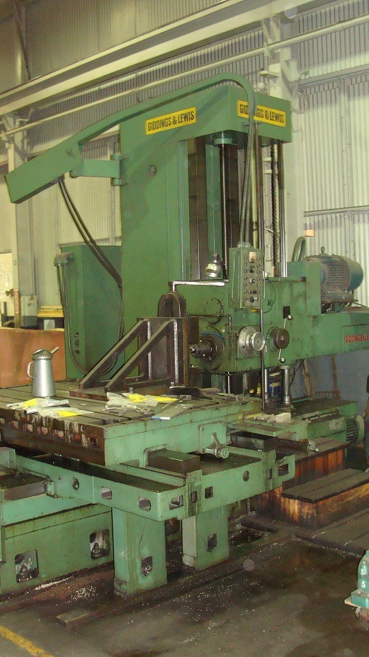 "1 – USED 5"" G & L TABLE TYPE HORIZONTAL BORING MILL C-4054"