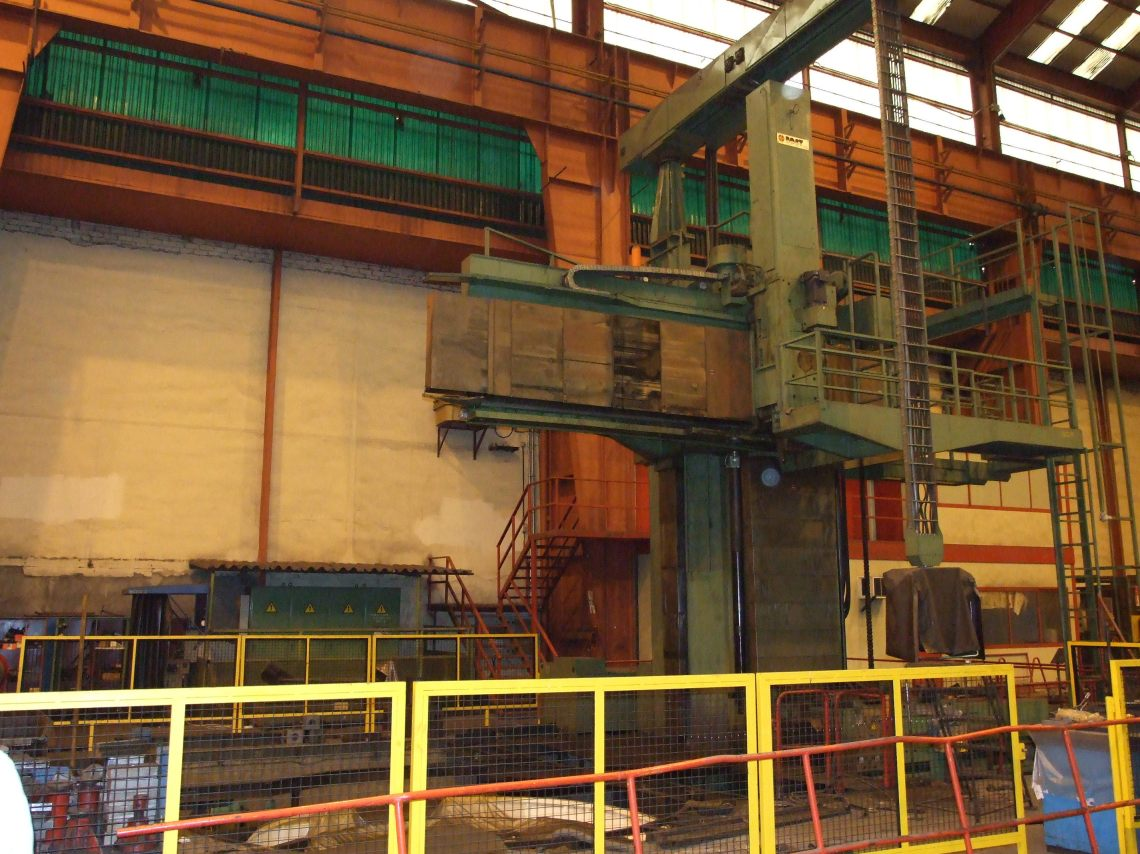 "1 – USED 315""/165"" SCHIESS VERTICAL BORING MILL C-4049"