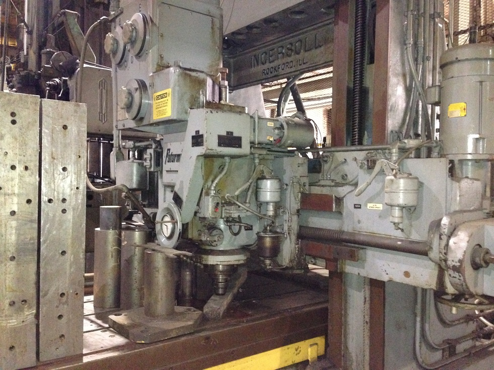 """1 – USED 44"""" X 36"""" X 120"""" INGERSOLL DOUBLE HOUSING, ADJUSTABLE RAIL PLANER MILL"""