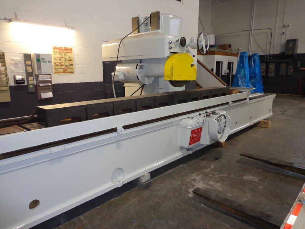 "1 - USED 18"" x 18"" x 168"" HILL-ACME HYDRAULIC HORIZONTAL SPINDLE SURFACE GRINDER WITH ADF 14471"