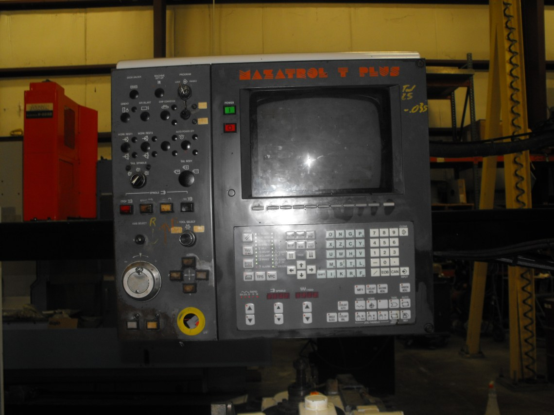 "1 - USED 24"" X 80"" MAZAK BIG BORE CNC M-5N LATHE"