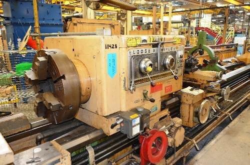 "1 – USED 32"" X 252/120"" (21'/10') LODGE & SHIPLEY ""SUPERTURN   3220W"" DUAL SIDE HOLLOW SPINDLE ENGINE/BORING LATHE C-3844"