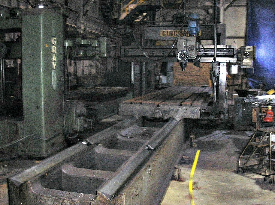 "1 – USED 60"" X 40"" X 264"" CINCINNATI DOUBLE HOUSING PLANER MILL"
