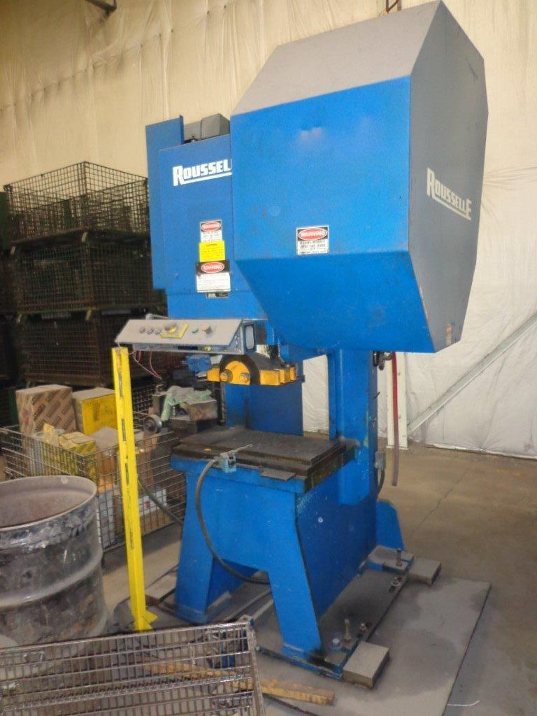 1-USED 55 TON ROUSSELLE GAP TYPE FLYWHEEL POWER PRESS