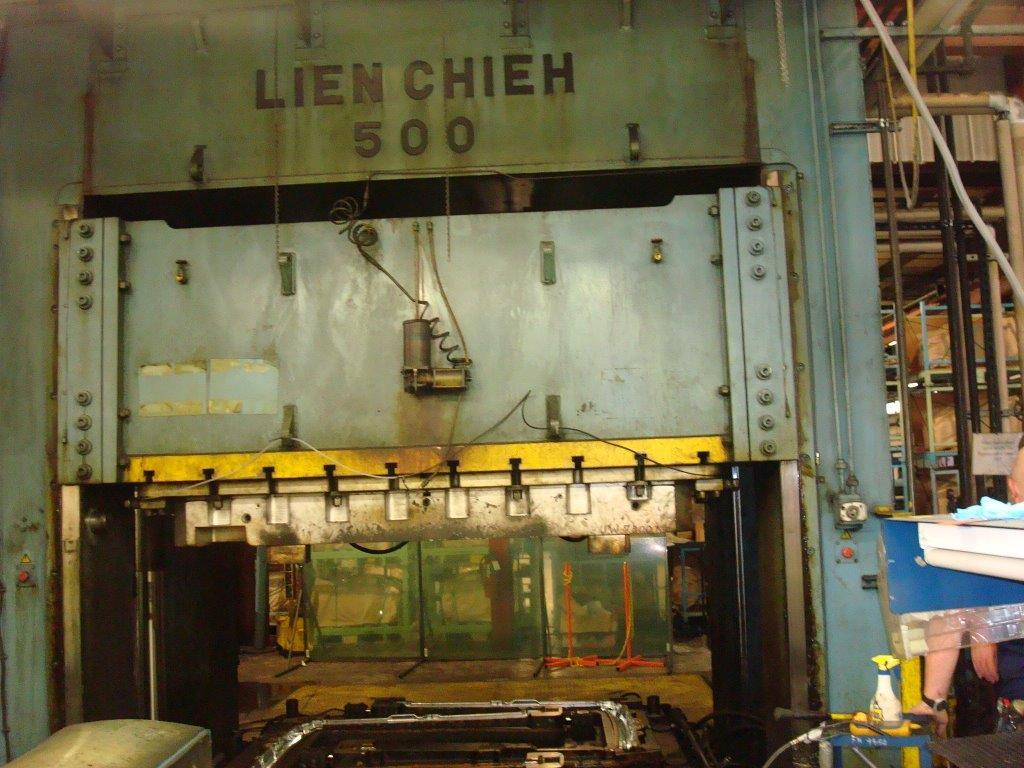 1 – USED 500 TON LIEN CHIEH S.S. DOWN ACTING GIB 14444