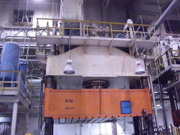 1 - USED 1620 TON ERIE HYDRAULIC PRESS C-3674