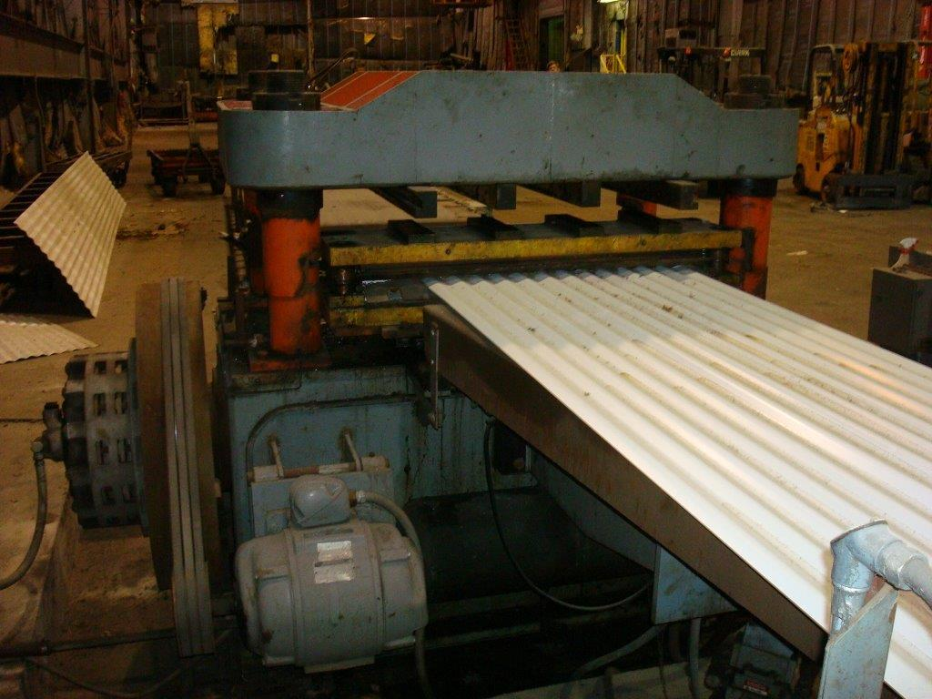 "34 - USED 5"" X 46"" BRADBURY ROLL FORMER ARBORS WITH CORRUGATED PANEL TOOLING"