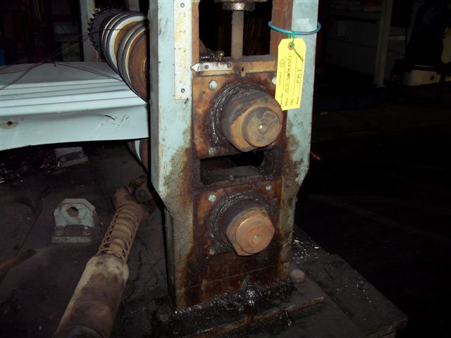 """34 - USED 5"""" X 46"""" BRADBURY ROLL FORMER ARBORS WITH CORRUGATED PANEL TOOLING"""