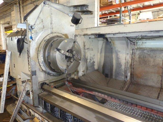 "1 – USED 43"" X 157"" OKUMA CNC FLAT BED OIL COUNTRY LATHE C-4166"