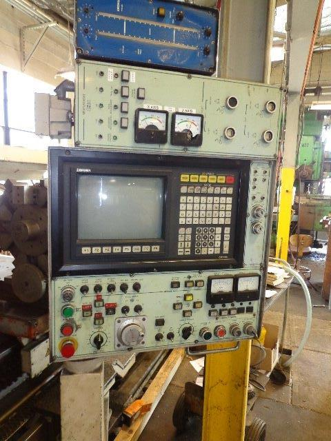 "1 – USED 43"" X 157"" OKUMA CNC FLAT BED OIL COUNTRY LATHE"
