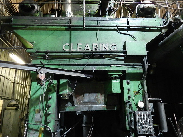 1 – USED 3000 TON CLEARING HYDRAULIC FORGING PRESS C-4188