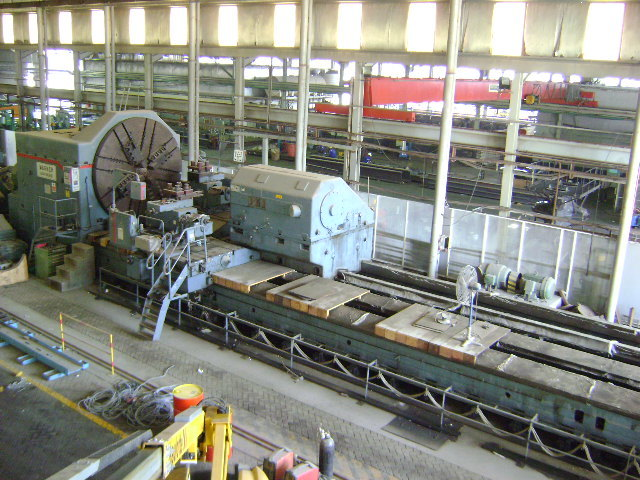 "1 - USED 130"" X 66' WAGNER HEAVY DUTY MANUAL ENGINE LATHE C-3395"
