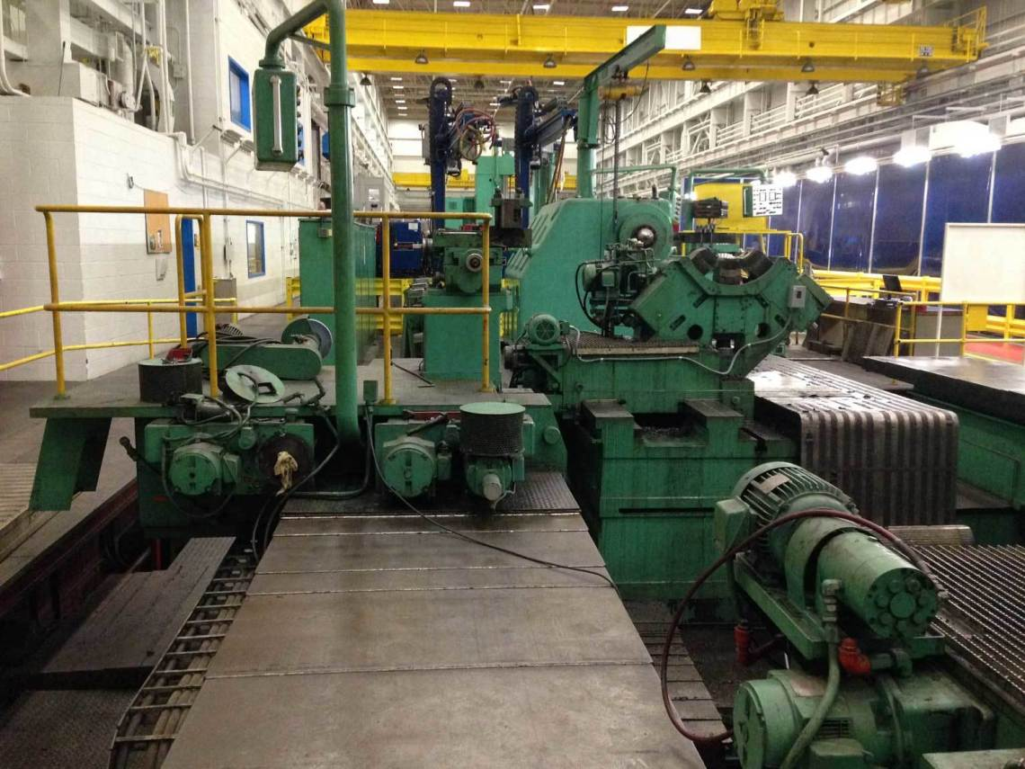 "1 - USED 250"" X 43' WALDRICH SIEGEN HEAVY DUTY SLIDING HEAD AND BED TURBIN ROTOR LATHE"