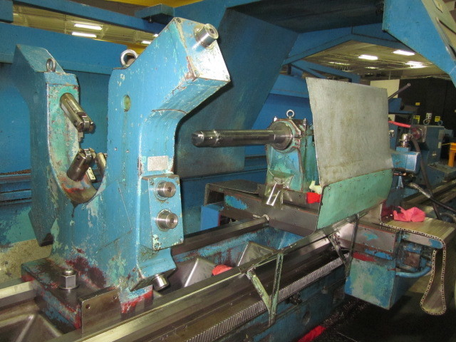 "1 – USED 50""/100"" X 282"" VDF CNC SLIDING GAP BED LATHE"