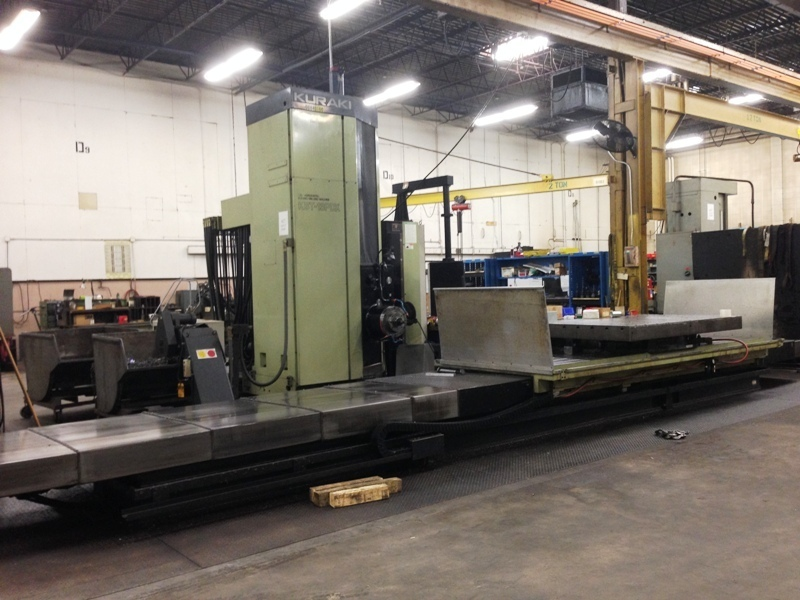 "1 - USED 5.12"" KURAKI MODEL KBT-13PDX 4-AXIS CNC HORIZONTAL BORING MILL"