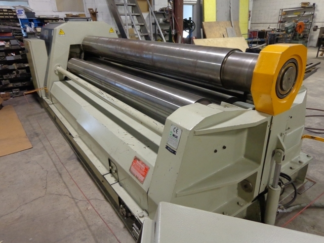 "1 – USED 10' X ½"" CARELL FOUR ROLL CNC PLATE ROLL C-4457"