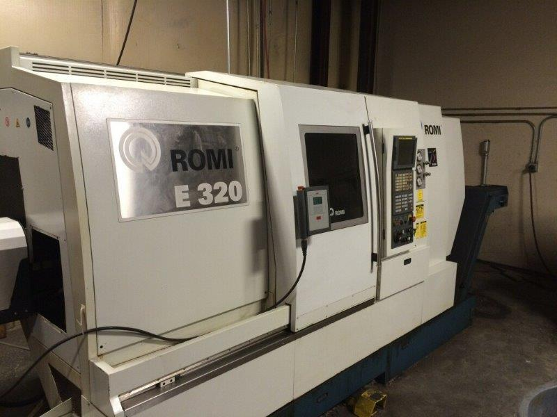 """1 - USED 8"""" X 11A1 – USED ROMI E320-BMY MULTI-AXES CNC TURNING CENTER WITH SUB-SPINDLE, LIVE TOOLING & """"Y"""" AXIS"""" YAM CK-1A 2- AXIS CNC LATHE 1997 C-4464"""