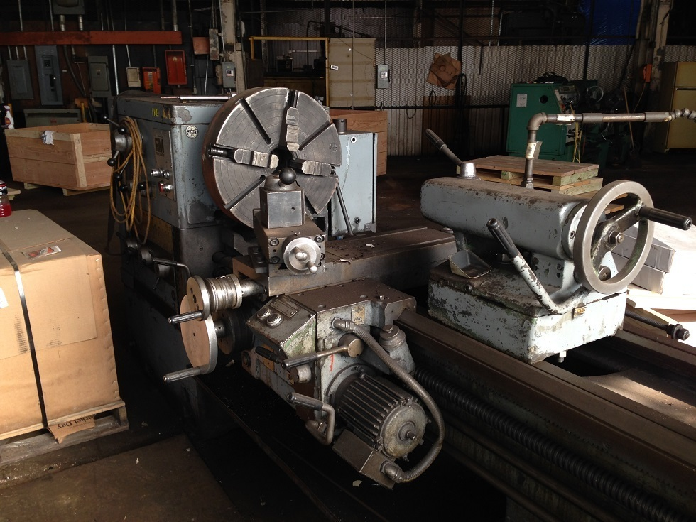 "1 – USED 22""/31"" X 120"" PROFIT MASTER GAP BED ENGINE LATHE C-4069"
