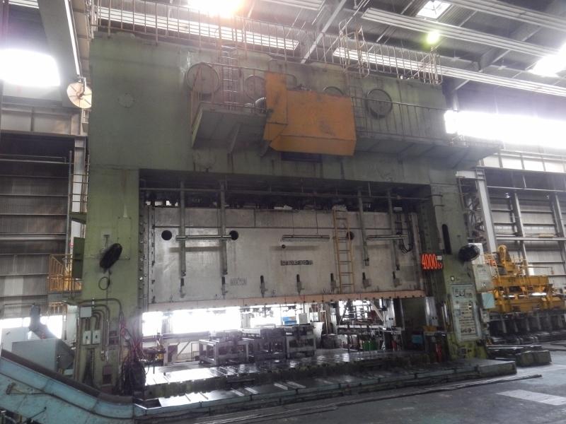 1 - USED 4,000 TON HITACHI ECCENTRIC DRIVE SS POWER PRESS C-5017