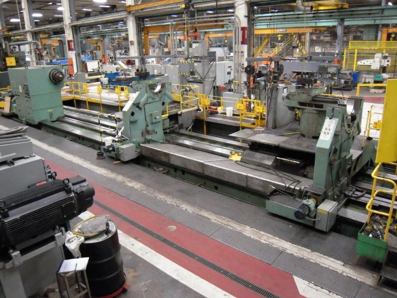 "1 – USED 145"" X 630"" KRAMATORSK HEAVY DUTY CNC LATHE WITH DUAL CARRIAGES C-4493"