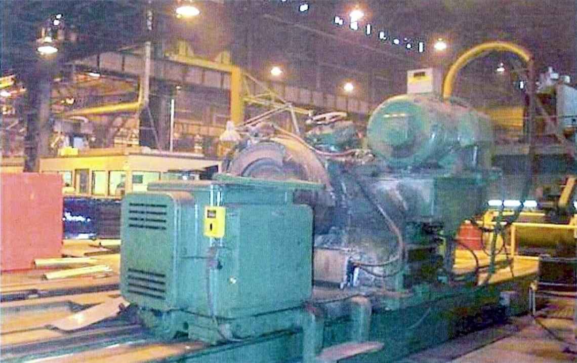 "1 – USED NAXOS-UNION 70"" X 180"" CYLINDRICAL GRINDER, TRAVELING WHEELHEAD"