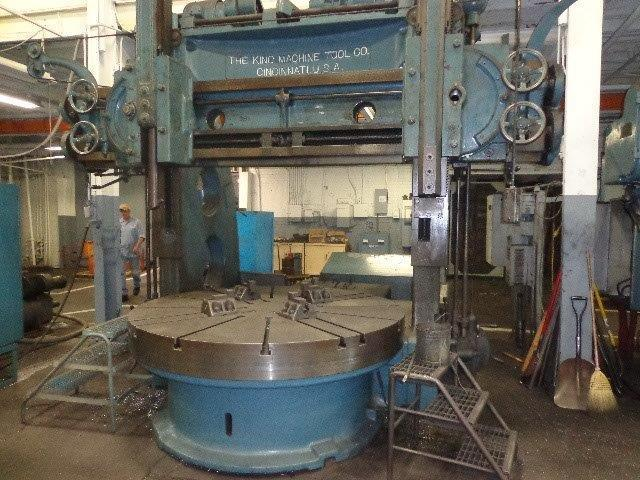 "1 – USED 80""/90"" KING VERTICAL BORING MILL C-5049"