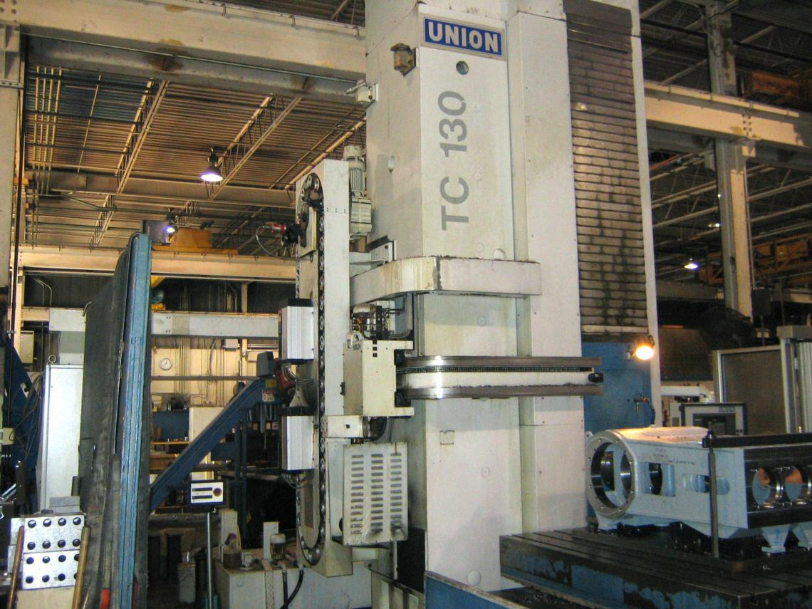 "1 – USED 5"" UNION CNC HORIZONTAL BORING MILL MODEL TC 130 C-5022"
