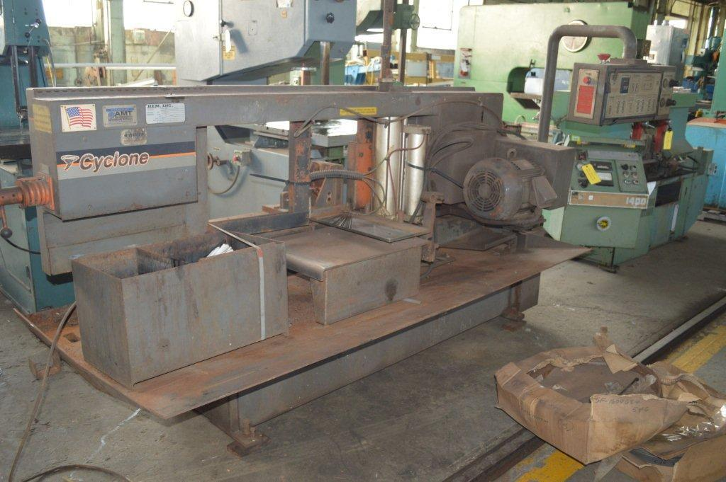 "1 – USED 16"" X 23"" HEM ""CYCLONE"" AUTOMATIC HORIZONTAL MITERING BAND SAW C-5047"