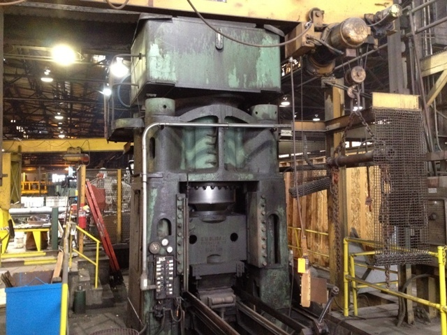 1 – USED 2,000 TON BLISS HYDRAULIC FORGING PRES C-5043