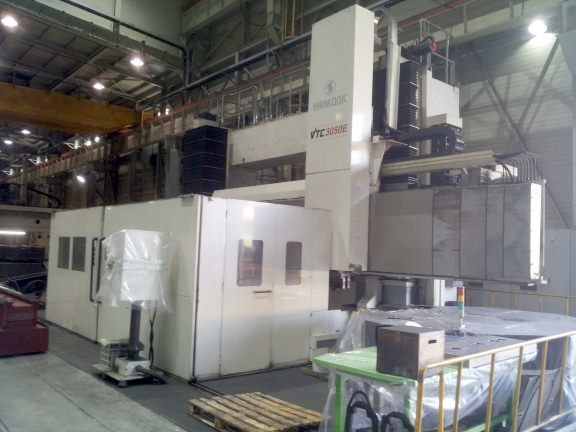 "​1 – USED HANKOOK VTC 3050E 157"" / 197"" CNC VERTICAL TURNING CENTER WITH LIVE TOOLING C-5098"
