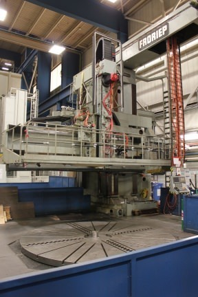 "1 – USED 145""/393"" FRORIEP OPENSIDE CNC VERTICAL BORING MILL WITH MILLING C-5110"
