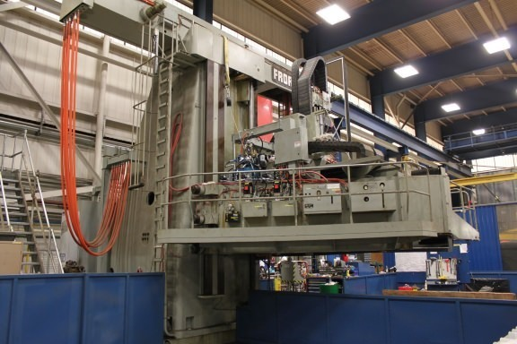 "1 – USED 145""/393"" FRORIEP OPENSIDE CNC VERTICAL BORING MILL WITH MILLING"