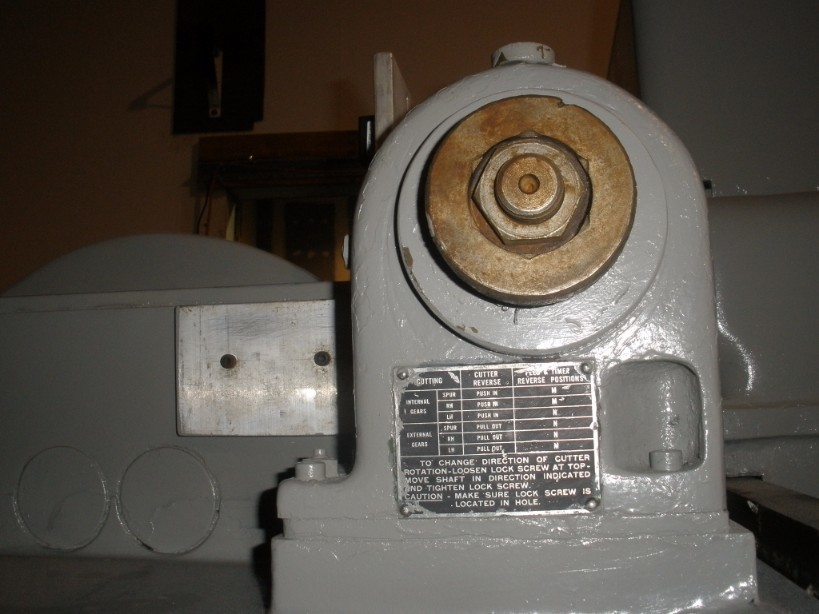 1 – USED 36-6 FELLOWS VERTICAL GEAR SHAPER