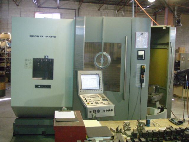 ​1 – USED DECKEL MAHO DMC 60T 5-AXIS TWIN PALLET CNC MACHINING CENTER C-5158