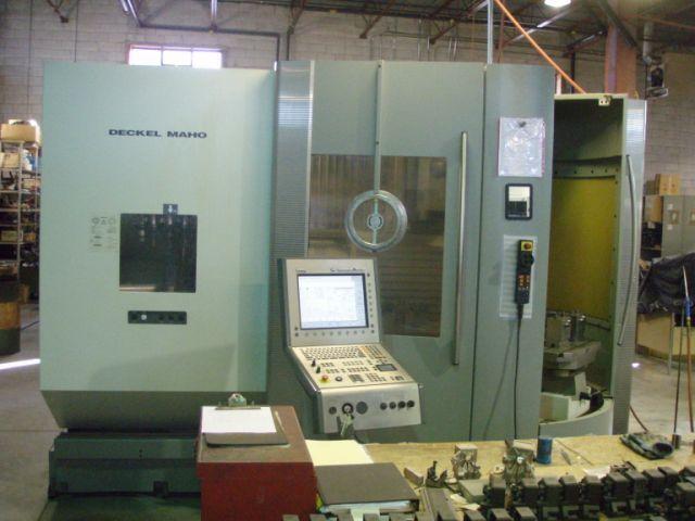 1 – USED DECKEL MAHO DMC 60T 5-AXIS TWIN PALLET CNC MACHINING CENTER C-5158