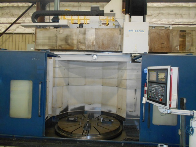 """1 – USED 98""""/78"""" HNK NT-20-25 CNC VERTICAL BORING MILL"""