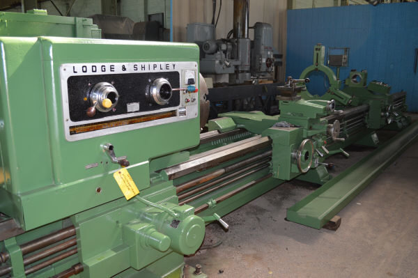 "1 – USED 32"" X 252/120"" (21'/10') LODGE & SHIPLEY ""SUPERTURN"" 3220w DUAL SIDE HOLLOW SPINDLE ENGINE/BORING LATHE"