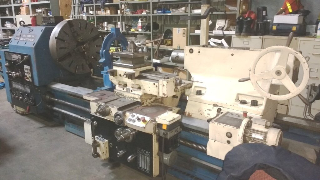 "1 – USED 20"" X 120"" LEBLOND HEAVY DUTY ENGINE LATHE"