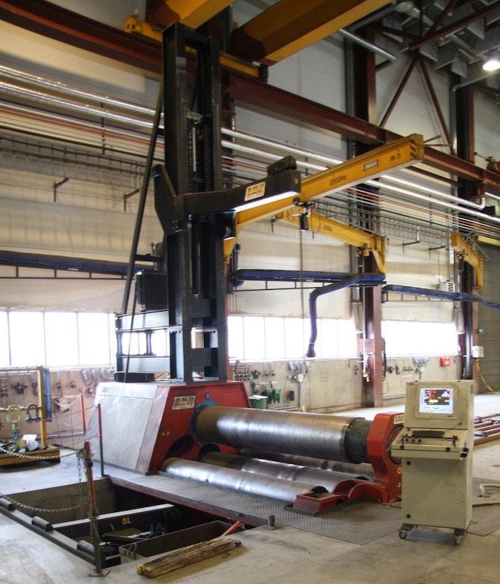 """1 – USED 3"""" X 120"""" DAVI CNC 4-ROLL HYDRAULIC PLATE ROLL C-5360"""