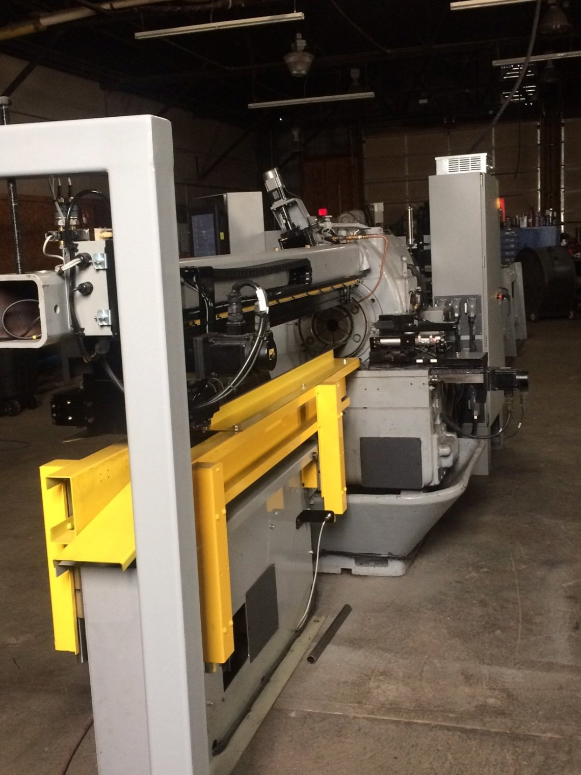 "1 – USED 5"" REMANUFACTURED NO. 35 BARDONS & OLIVER CUT-OFF LATHE WITH NEW PLC PROGRAMMABLE CONTROLS & NEW 24' MAGAZINE BAR FEED C-5349"