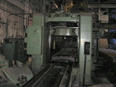 """1 – USED 48"""" X 48"""" X 196"""" G.A. GRAY DOUBLE HOUSING PLANER"""