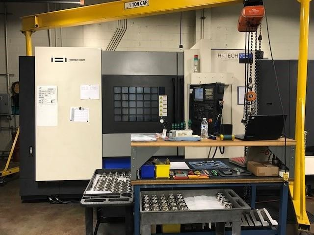 "1 – USED 35"" X 78"" HWACHEON HI-TECH 700 CNC SLANT BED TURNING CENTER C-5296"