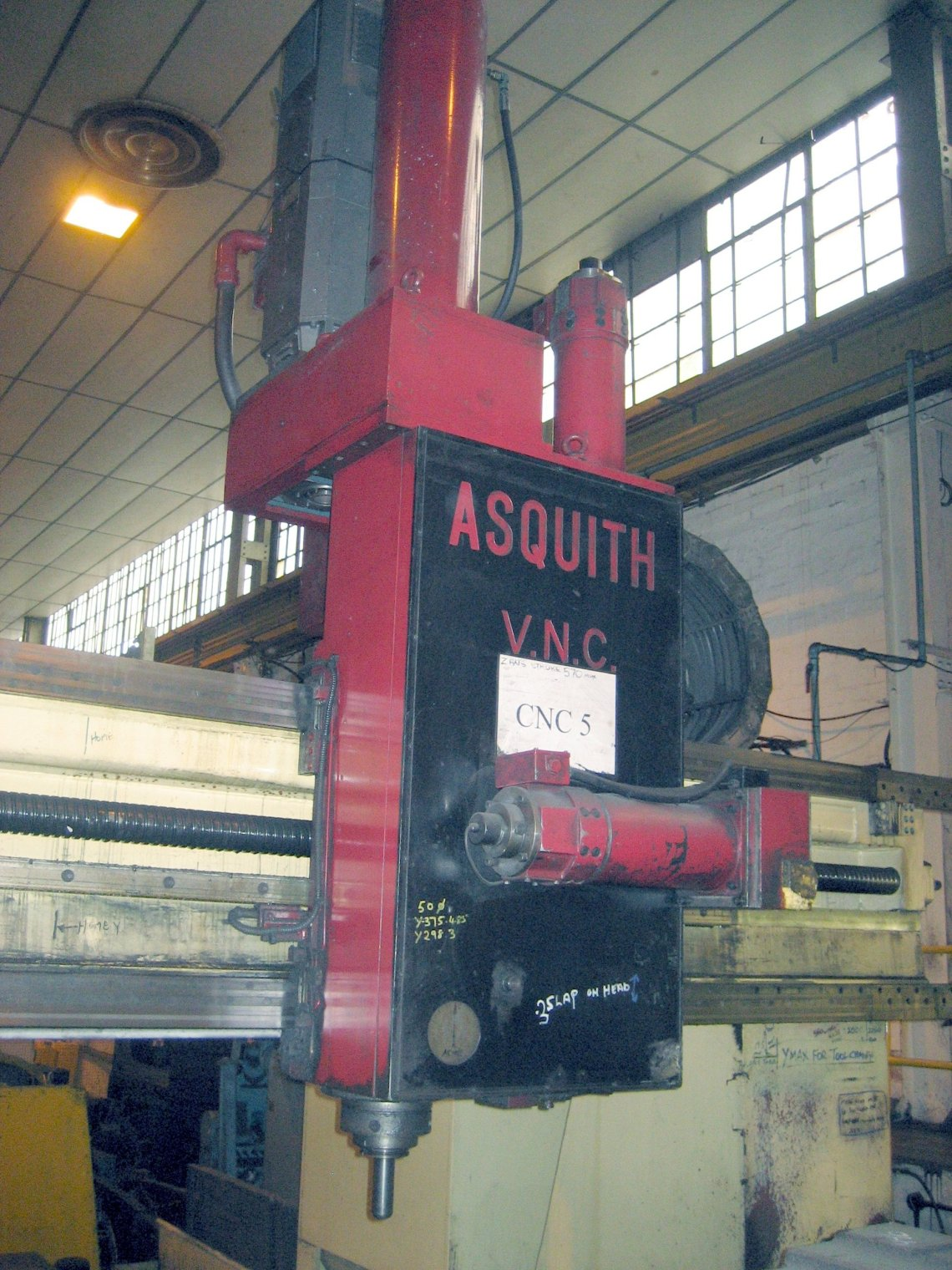 "1 – USED 92"" X 134"" ASQUITH CNC GANTRY TYPE VMC C-5089"