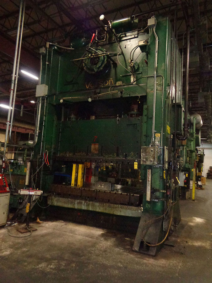 1 – USED 600 TON VERSON SSDC PRESS C-5455