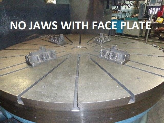 "​1 – USED 96"" CAST IRON FACE PLATE FROM BETTS VBM C-5139"