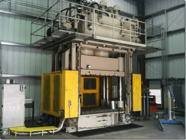1 – USED 1,200 TON BATTENFIELD HYDRAULIC 4-POST COMPRESSION MOLDING PRESS C-5489